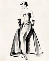 Vintage Costume Sketch I Fine Art Print