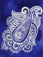 Indigo Paisley I Fine Art Print