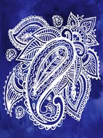 Indigo Paisley II Fine Art Print