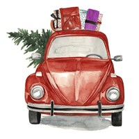 Christmas Cars I Framed Print