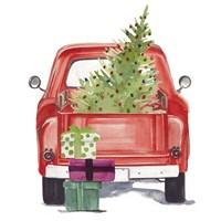 Christmas Cars III Framed Print