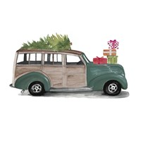 Christmas Cars IV Framed Print