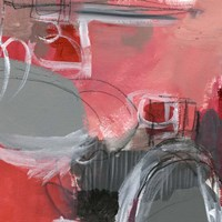 Red & Gray Abstract I Fine Art Print