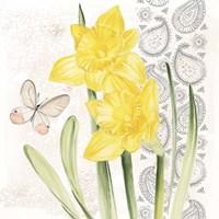 Flowers & Lace II Framed Print