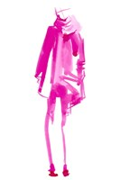 Fuchsia Street Fashion III Framed Print