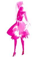 Fuchsia Street Fashion IV Framed Print