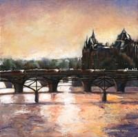 Sunset In Paris Fine Art Print