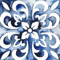 Cobalt Tile II Fine Art Print