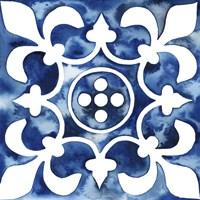 Cobalt Tile III Fine Art Print
