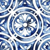 Cobalt Tile IV Fine Art Print