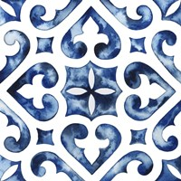 Cobalt Tile VI Fine Art Print