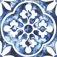 Cobalt Tile I Framed Print