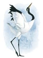Dancing Crane II Fine Art Print
