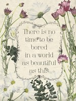 Pressed Floral Quote I Fine Art Print