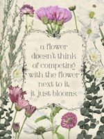 Pressed Floral Quote III Fine Art Print