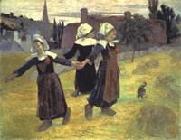 Breton Girls, 1888 Fine Art Print