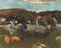 Swineherd, 1888 Fine Art Print