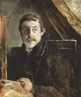 Gauguin Behind an Easel Fine Art Print