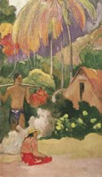 Landscape in Tahiti 1892 Fine Art Print