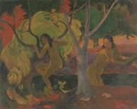 Bathers at Tahiti, 1897 Fine Art Print