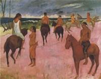 Riders on the Beach, 1902 Fine Art Print