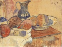 Still Life with a Pitcher and Fruit Fine Art Print