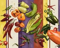 Sarape Peppers I Framed Print