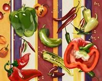 Sarape Peppers II Framed Print