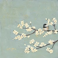 Chickadee & Dogwood I Fine Art Print