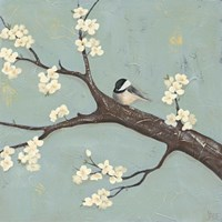 Chickadee & Dogwood II Fine Art Print