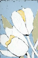 White Tulip Triptych I Framed Print