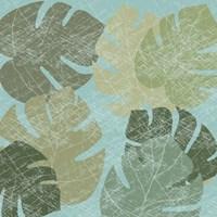 Faded Tropical Leaves II Fine Art Print