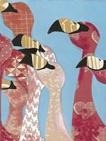 Flock of Flamingoes I Framed Print