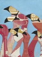 Flock of Flamingoes II Framed Print