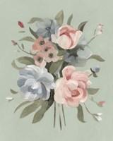 Pastel Bouquet II Framed Print