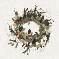 Farmhouse Wreath II Fine Art Print