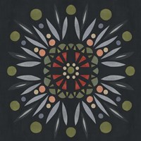 Folk Mandala II Fine Art Print