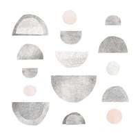 Half Circles I Framed Print