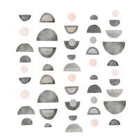 Half Circles IV Framed Print