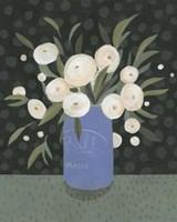 Mason Jar Bouquet I Framed Print