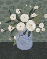 Mason Jar Bouquet III Framed Print