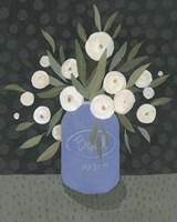 Mason Jar Bouquet II Framed Print