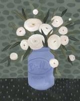 Mason Jar Bouquet IV Framed Print