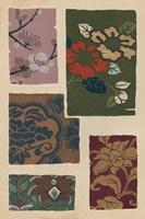 Japanese Textile Design II Framed Print