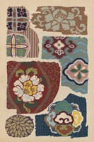 Japanese Textile Design III Framed Print