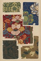 Japanese Textile Design IV Framed Print
