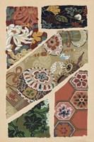 Japanese Textile Design V Framed Print