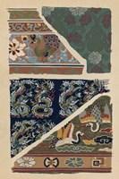 Japanese Textile Design VI Framed Print