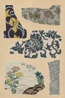 Japanese Textile Design VII Framed Print