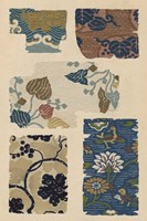 Japanese Textile Design VIII Framed Print